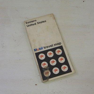 ヴィンテージ マップ アメリカ 地図 モービルトラベル Eastern United States メール便・ネコポス便可【USED】