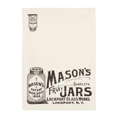 ディッシュクロス 布巾 MASON'S JAR メイソンジャー プリント メール便・ネコポス便可