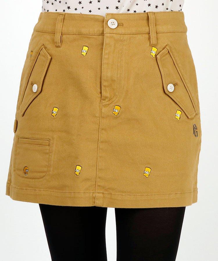 パーリーゲイツ ゴルフウェアレディース SIMPSONS★バートドット刺繍スカート