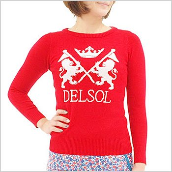 DL BIGロゴジャガード◆Uネックセーター