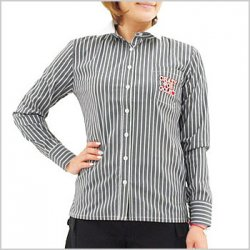 DL ストライプ柄長袖シャツ