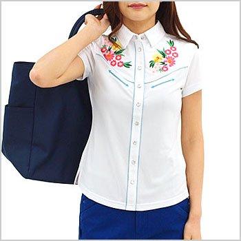 VH 冷感★多機能ウェスタン調半袖シャツ