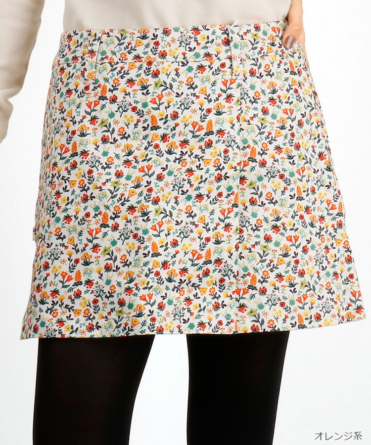 JB 小花いっぱい♪ラップ風スカート
