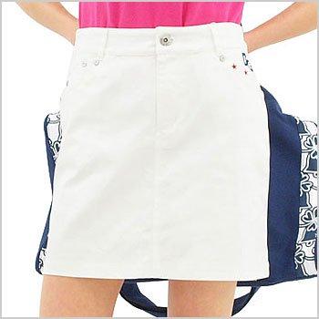 DL Backポケ刺繍スカート
