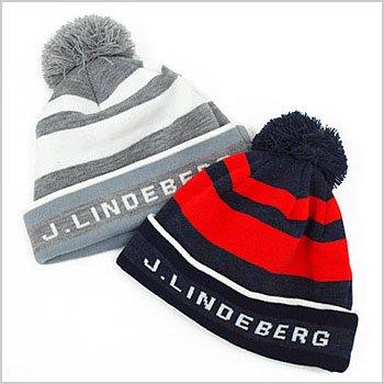 JL 配色Borderぽんぽんニット帽