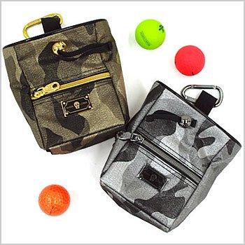 マーク&ロナ BlackBox ゴルフウェアレディース カモフラ◆チョークバッグ型ボールポーチ