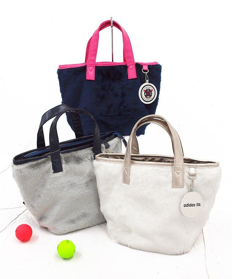 AG ファー素材ラウンドカートバッグ