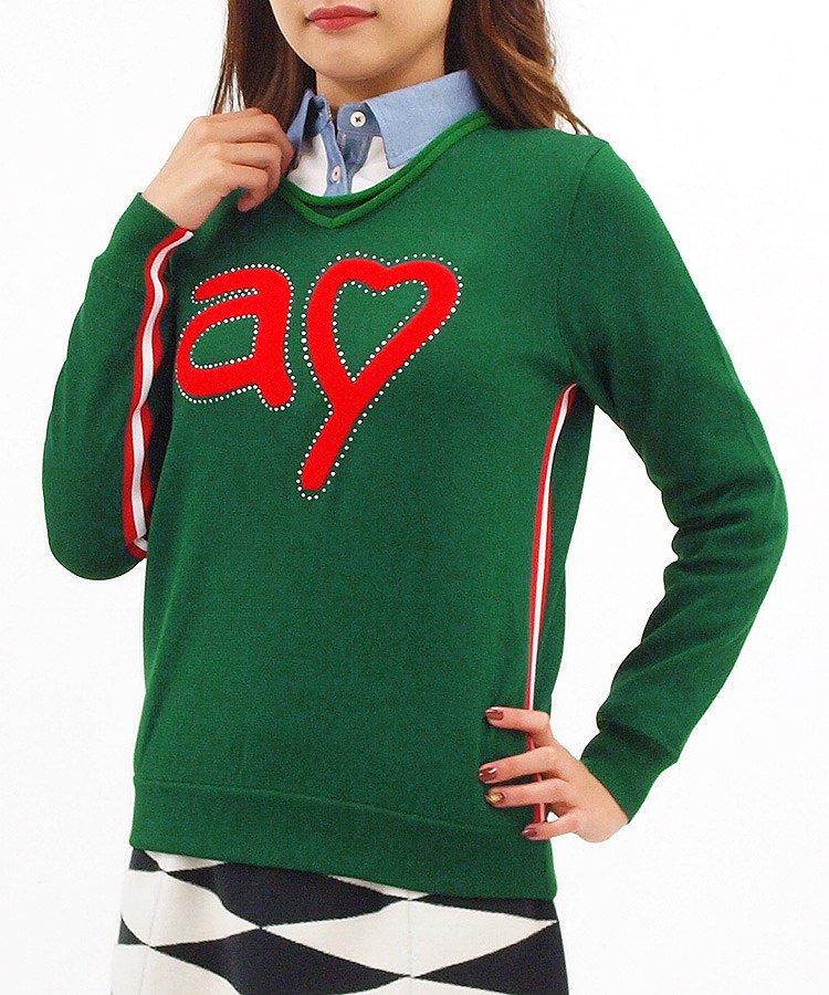 AR aハート♪ポリニット裏地Cottonセーター