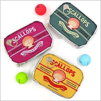 CU SCALLOPS缶型ポーチ