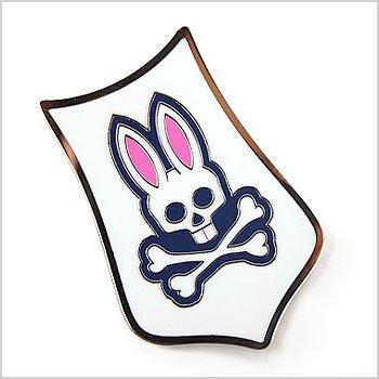 Psycho Bunny ゴルフウェアレディース エンブレム型ロゴトップマーカー