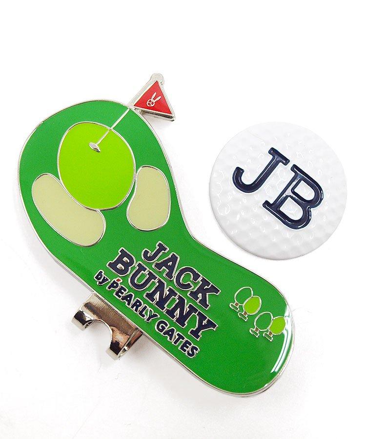 ジャックバニー 17秋冬新作 ゴルフウェアレディース グリーン台座★ボール型トップマーカー
