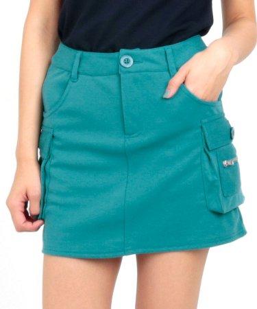 DL 定番◆一体ペチ付スウェットカーゴスカート