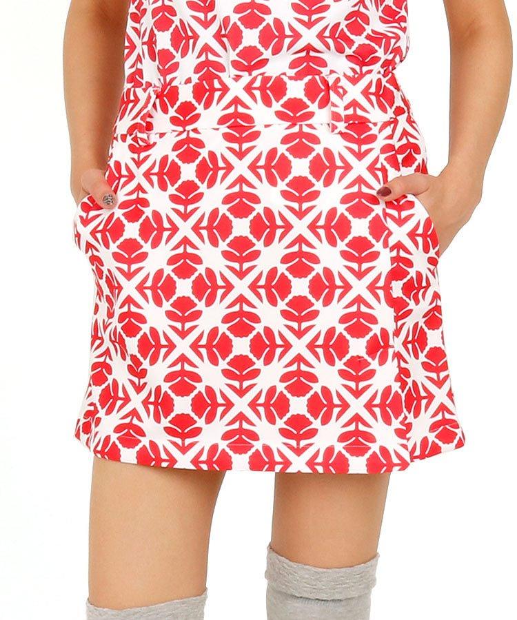 CA レフアシルエット総柄UVポンチスカート