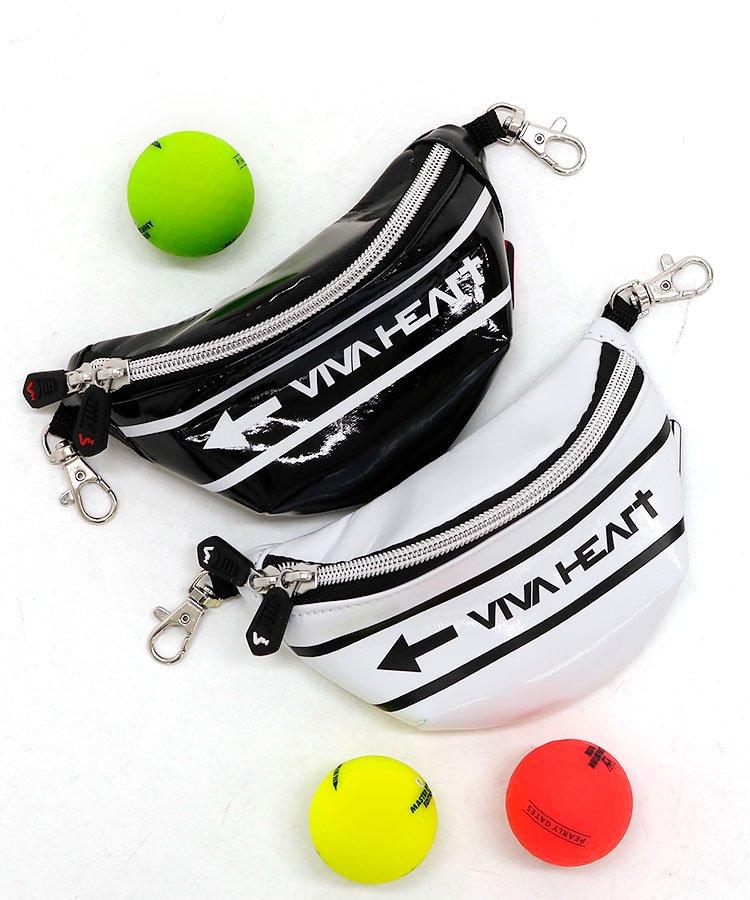VH ウェストポーチ型レザー風ボールポーチ