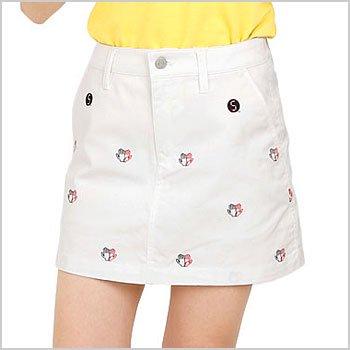 JB 【HIGH★FIVE】ロゴドット刺繍一体ペチスカート