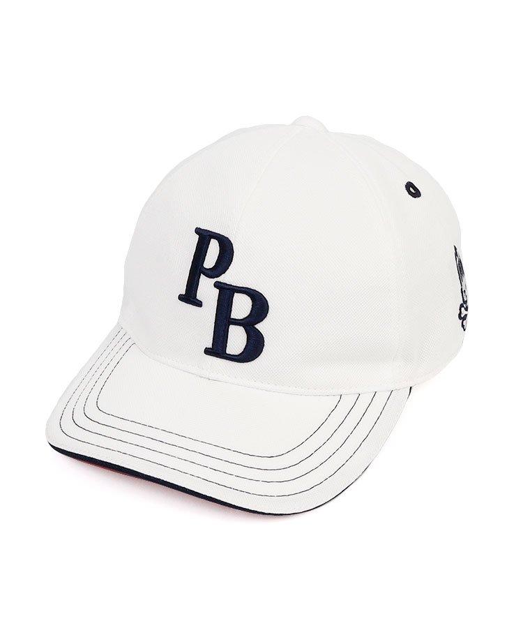 Psycho Bunny 18春夏新作 ゴルフウェアレディース 「PB」ロゴ刺繍裏つば配色キャップ