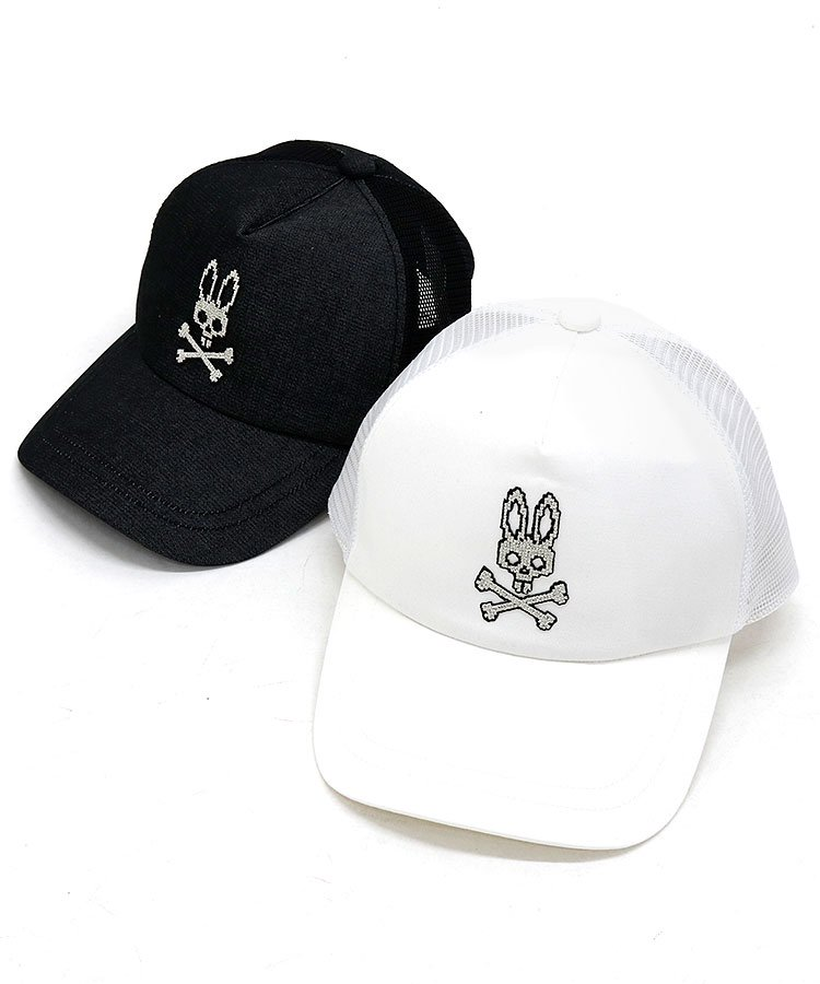Psycho Bunny 18春夏新作 ゴルフウェアレディース デジタルRabbit刺繍★メッシュキャップ