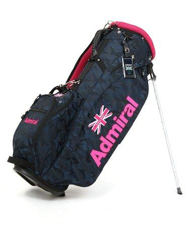 アドミラルゴルフ 18春夏新作 ゴルフウェアレディース カモフラ柄◆スタンドキャディ