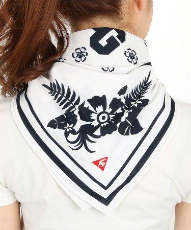 LQ Flower柄バンダナスカーフ型ネックカバー