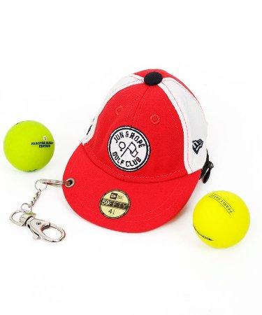 ジュン&ロペ 18春夏新作 ゴルフウェアレディース NEWERAコラボ☆キャップ型ボールポーチ