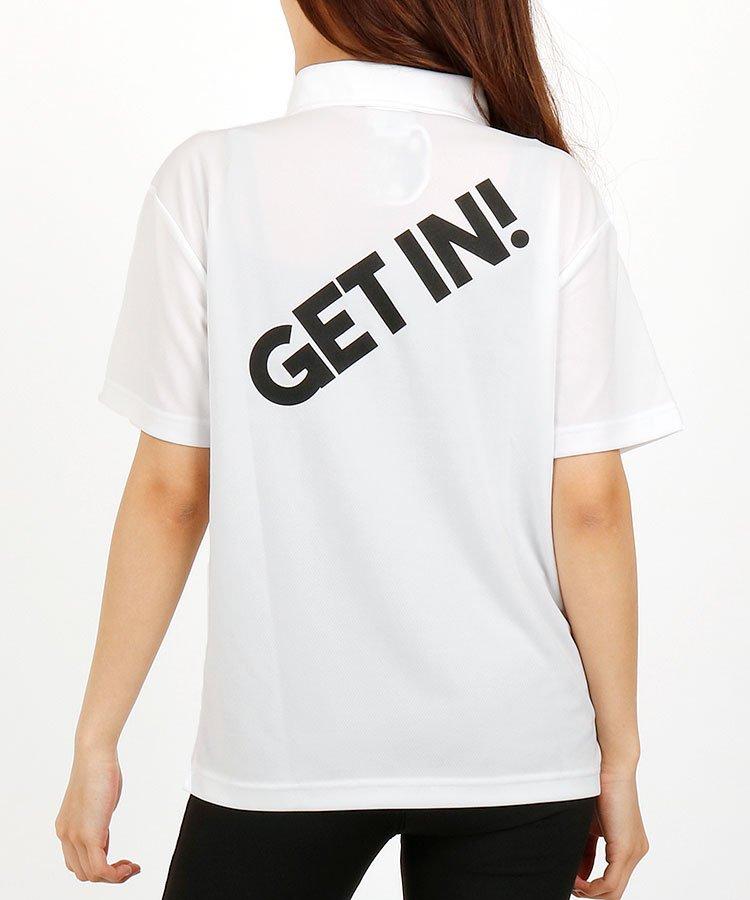 GJ 【別注】GETIN!Backプリント半袖ポロ