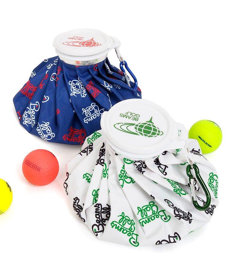 BEAMS GOLF 18夏の新作 ゴルフウェアレディース ロゴ総柄アイスバッグ