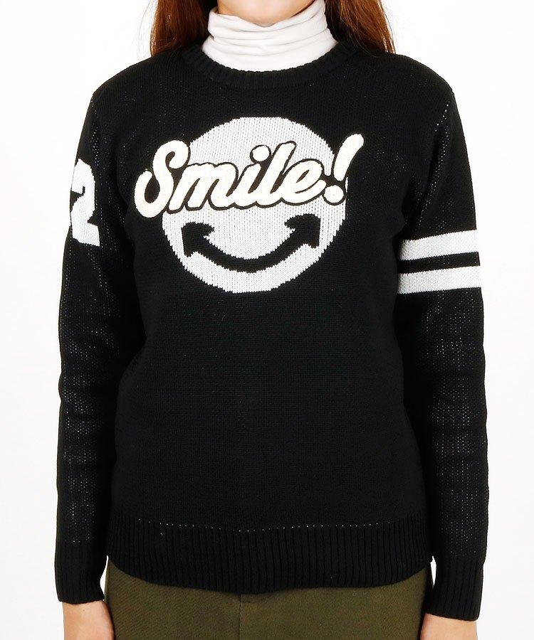CU Smile!アシメSleeve長袖さがらニット