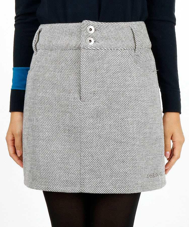 DL Backポケ刺しゅう微起毛スカート