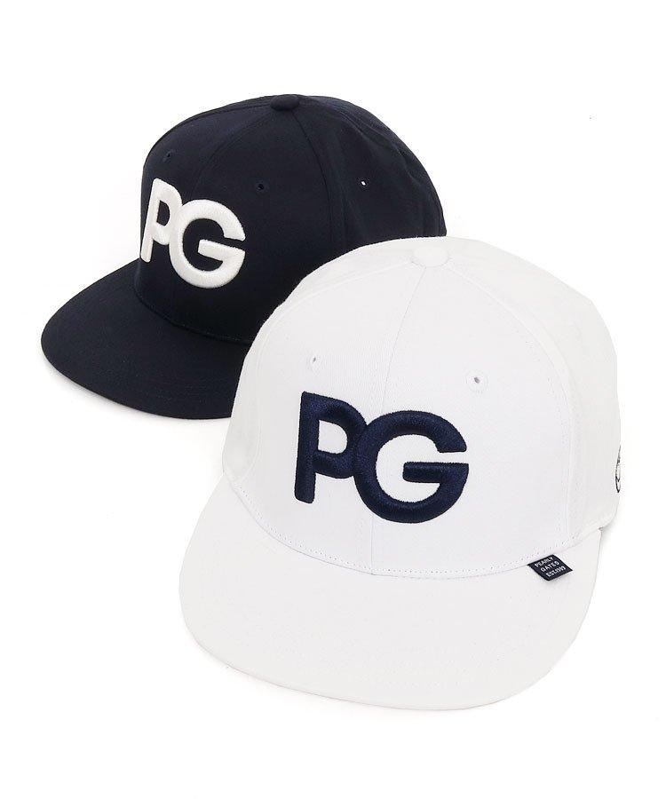 PG 「PG」パネル刺しゅう平つばキャップ
