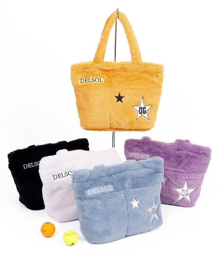 DL STAR刺繍★ファーカートバッグ