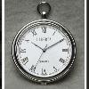 男女兼用 軽量型懐中時計 シルバー ローマスタイル