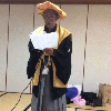 大勢での米寿のお祝い風景(2015年1月中旬)