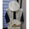 【Bセット】レンタルちゃんちゃんこ(白・鶴亀柄)と作務衣セット