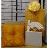 【Eセット】レンタルちゃんちゃんこ(金・鶴亀柄)と座布団 米寿のお祝いセット