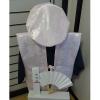 【Bセット】レンタルちゃんちゃんこ(ピンク・鶴亀柄/百寿のお祝い)と作務衣セット