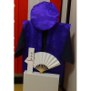 【Bセット】レンタルちゃんちゃんこ(紫・古希祝い・鶴亀柄)と作務衣セット