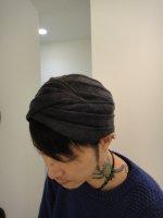SIVA / HDW-CLT / MESH TURBAN / BLACK dyeing