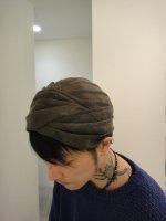 SIVA / HDW-CLT / MESH TURBAN / KHAKI dyeing