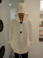 SIVA / PUL-CLT / MESH PULLOVER BALLOON HOODED / WHITE dyeing
