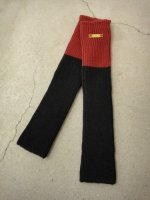 SIVA / ACC-KNT / WARP KNITTED LEG WARMERS / INK&RED_rib