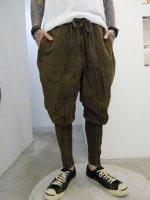 SIVA / BOT-CLT / DRAWSTRING WAIST LEG WARMER TROUSERS / KHAKI