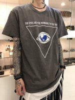 Varde77 / THE EYES T-SHIRTS / CHARCOAL GRAY