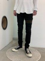 WIZZARD / BLEACH LINE SKINNY PANTS / BLACK