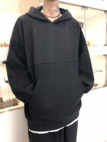 SHAREEF /  TWILL KNITTED SWICTING HOODIE / Black