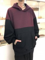 SHAREEF /  TWILL KNITTED SWICTING HOODIE / Red