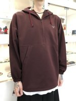Varde77 / PULLOVER TRACK PARKA / WINE RED