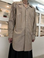 REVIVAL 90% PRODUCTS by Varde77 / NORMAL STRIPE LONG SHIRTS / A (BROWN)