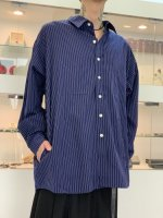 VICTIM / BIG STRIPE SHIRTS / NAVY