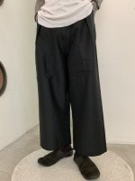 "P.E.O.T.W AG / 1TUCK WIDE TROUSERS ""C.L"" / Black"