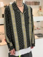 REVIVAL 90% PRODUCTS by Varde77 / VINTAGE TEXTILE BLACK ALOHA SHIRTS LONG SLEEVE